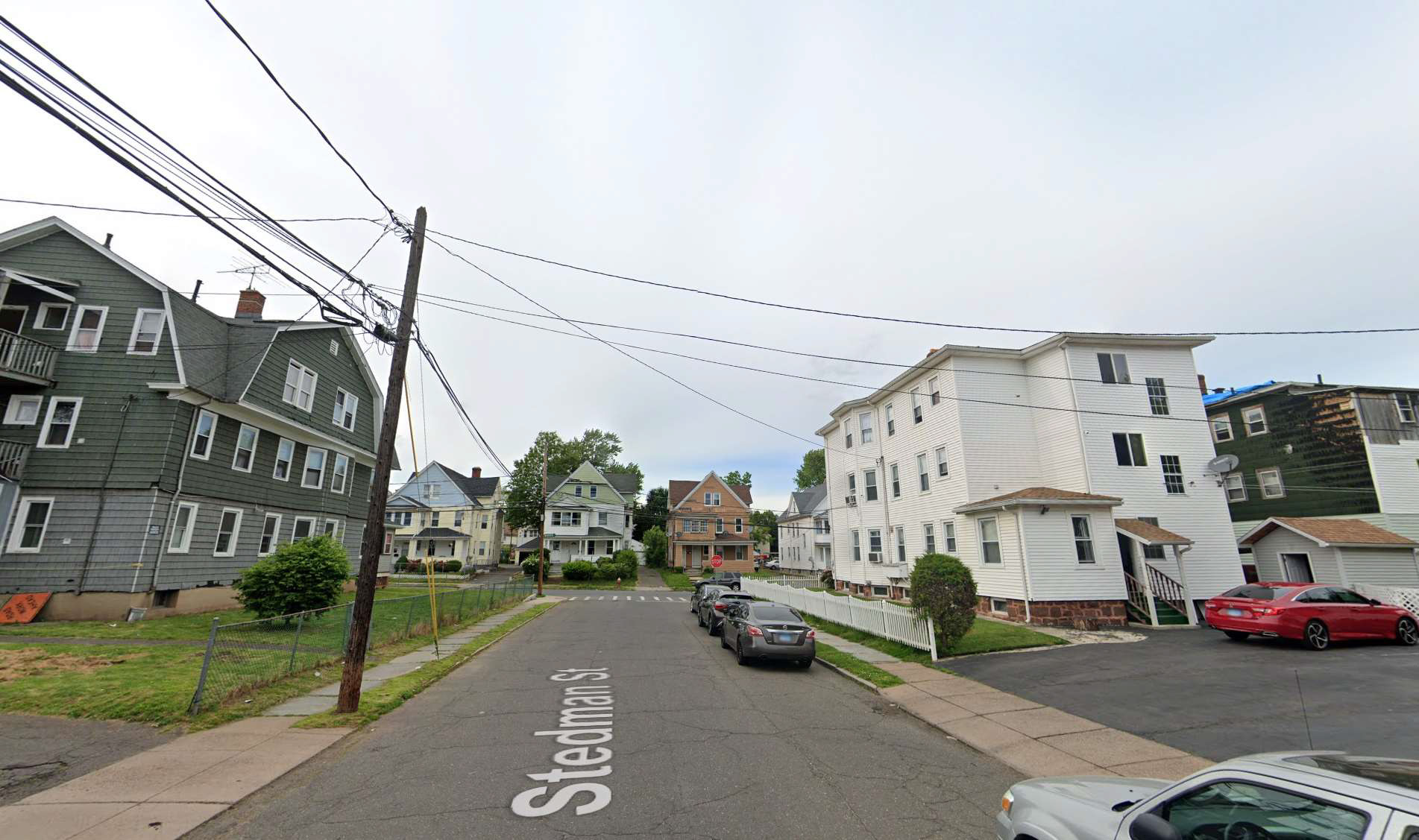 street view of very low opportunity neighborhood in Hartford, CT